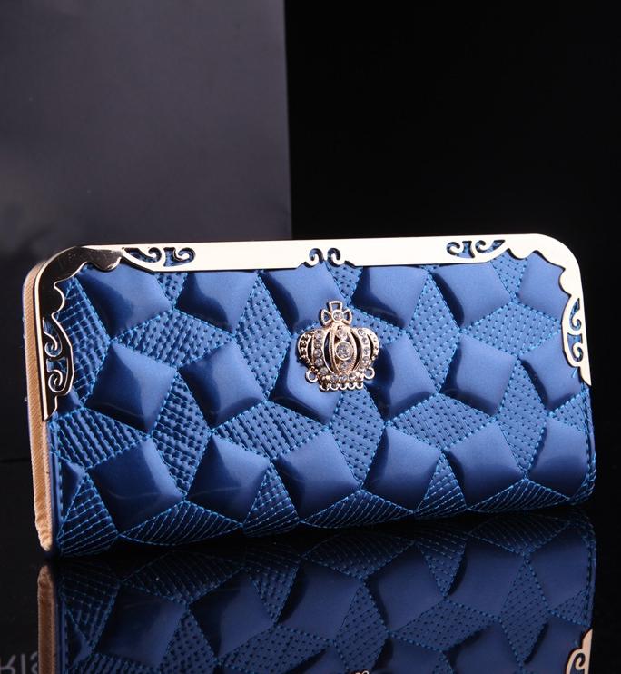 กระเป๋าสตางค์ BENLEI พร้อมส่ง สีน้ำเงิน ดีเทลลวดลายเก๋ ใบยาว DESING สุดเก๋ ไฮโซมากๆ ลายเก๋ๆ
