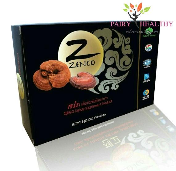 Zengo เซนโก เห็ดหลินจือแดงสกัดแบบผง 50 ซอง ราคา *** บาท ส่งฟรี