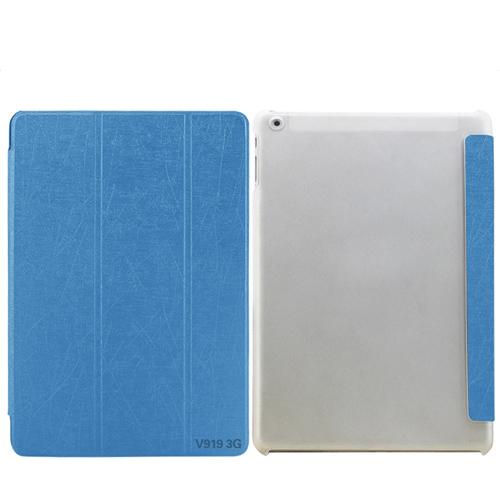 SALE เคส ONDA V919 3G ฝาปิดตรงรุ่น สวยหรู สีฟ้า (แถมฟิล์มกันรอย)