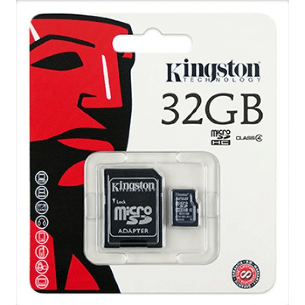 Micro SD Card 32GB Kingston (SDC4, Class 4) ของแท้ ประกันศูนย์ไทย
