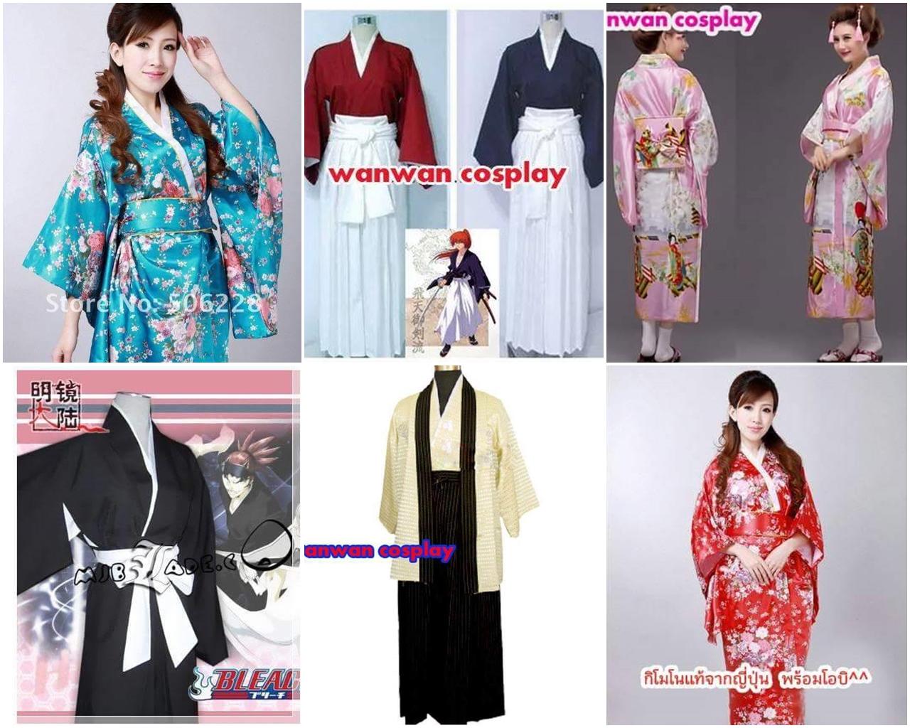 เช่าชุดญี่ปุ่น ชุดซามูไร ชุดกิโมโน ชุดยูกาตะ ชุดฮากามะ094-920-9400
