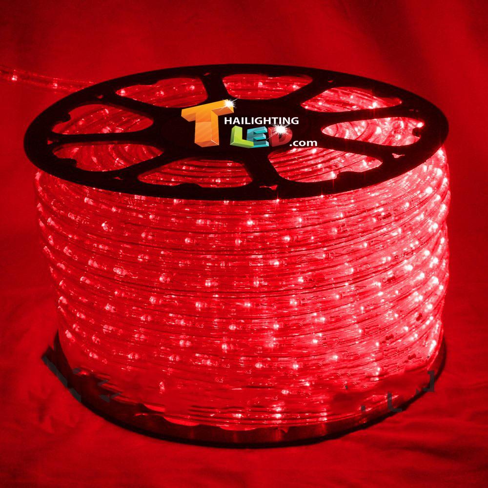 ไฟสายยาง(ท่อกลม) LED 100 m สีแดง