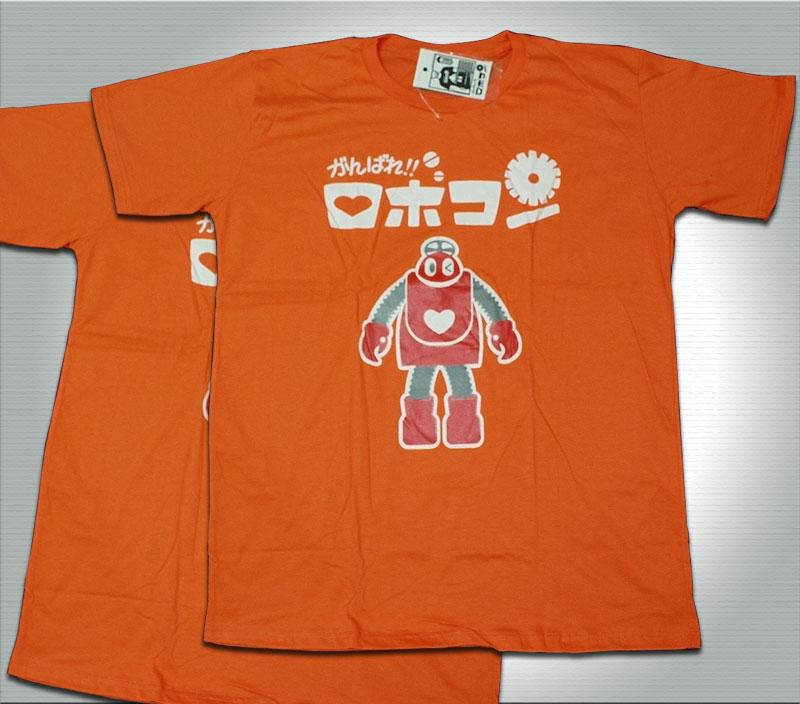 T-Shirt เสื้อยืดกันดั้ม โรโบคอนเจ้าหุ่นจอมยุ่ง (Zaku II) สุดเท่ห์ สีส้ม จากร้าน GUNZU !!โปรโมชั่น