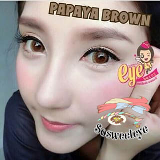 Papaya Brown Dueba สั้น/Power -550