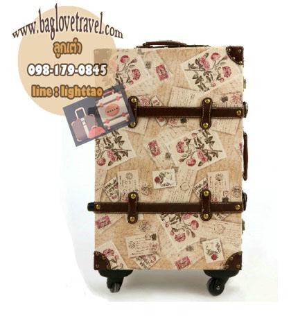 กระเป๋าเดินทางวินเทจ รุ่น vintage classic ลายกราฟฟิค ขนาด 20 นิ้ว