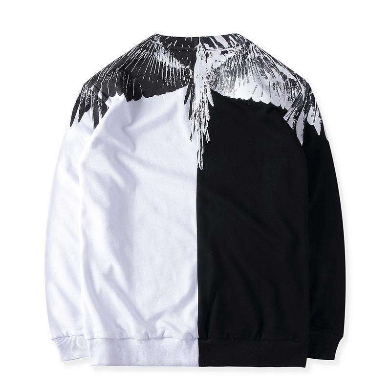 เสื้อแขนยาว Marcelo Burlon ลายปีกนก ทรูโทน สีขาว-ดำ