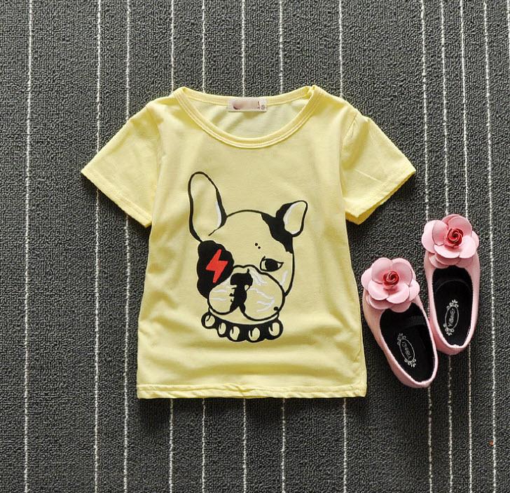 **เสื้อรูปสุนัข   เหลือง   S-XL   4ชุด/แพ๊ค   เฉลี่ย 90/ชุด