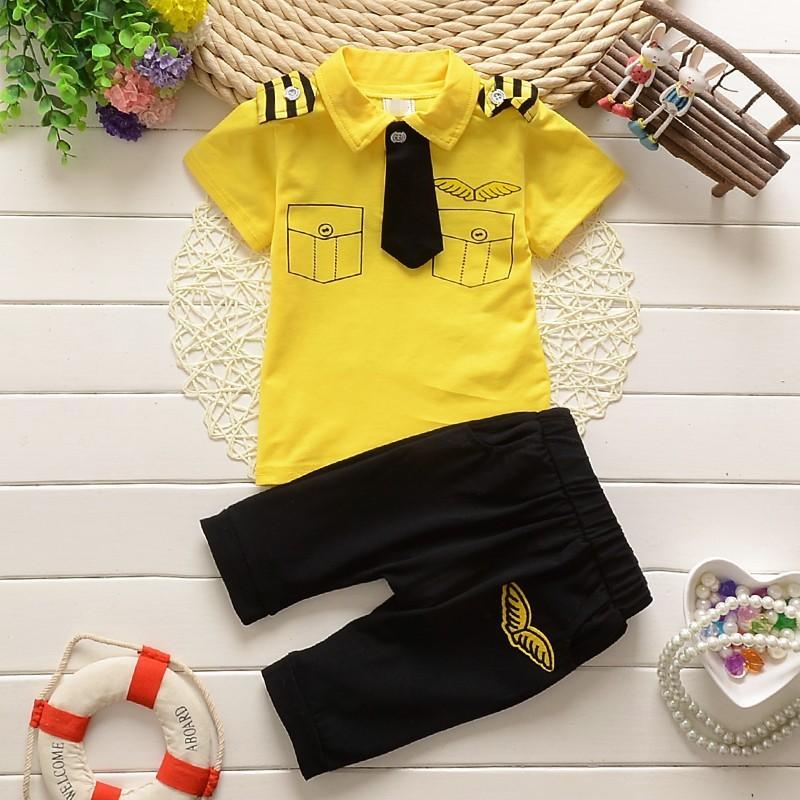 **ชุดเซ็ตเสื้อกัปตันสีเหลือง size=6-8-10-12 (4 pcs/pack)   4ชุด/แพ๊ค   เฉลี่ย 200/ชุด