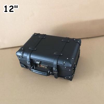 กระเป๋าเดินทางวินเทจ หนังPU สีดำ รุ่น classic 12 นิ้ว
