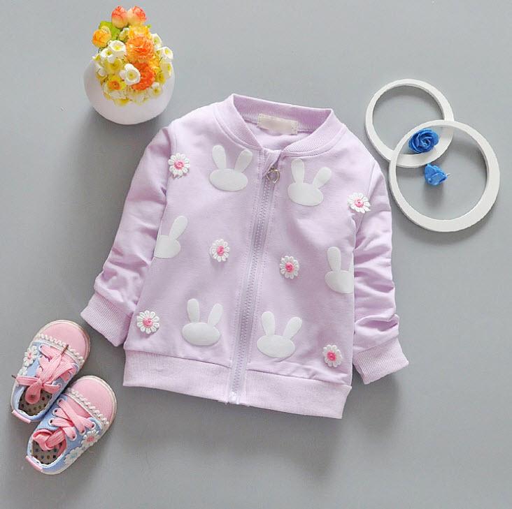 **เสื้อแขนยาวกระต่ายดอกไม้เล็ก | ม่วง | S-XL | 4ตัว/แพ๊ค | เฉลี่ย 145/ตัว