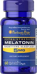 ลด 35 % PURITAN'S PRIDE :: Extra Strength Melatonin 5 mg - เมลาโทนิน 5 มิลลิกรัม ผ่อนคลาย แก้ปัญหา นอนไม่หลับ (เลือกขนาดด้านใน)