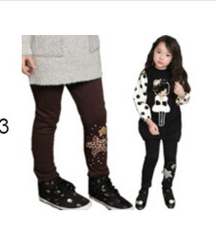 ***กางเกงแล็คกิ้งขายาวผ้าหนานิ่ม Star | ดำ | 90-130 | 5ตัว/แพ๊ค | เฉลี่ย 120/ตัว