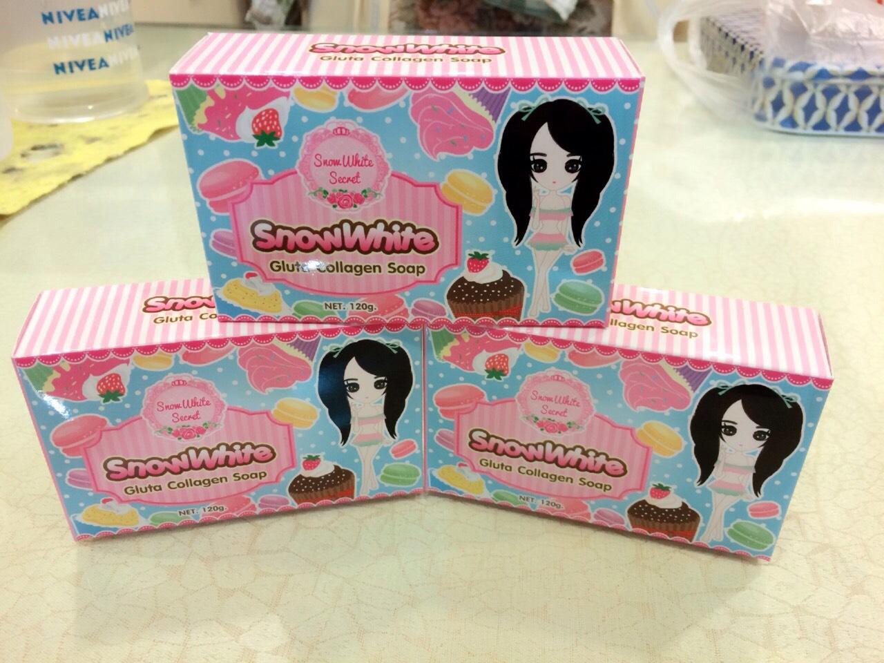 สบู่กลูต้าคอลลาเจน (snowwhite gluta collagen soap)