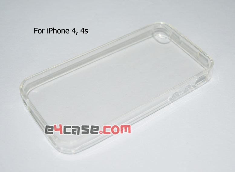 เคส iPhone 4, iPhone 4s - เคสยางใส มีดอท