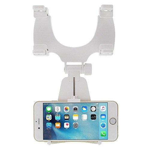 ขายึดโทรศัพท์มือถือ กับกระจกมองหลัง สีขาว ฟรีEMS เก็บเงินปลายทาง
