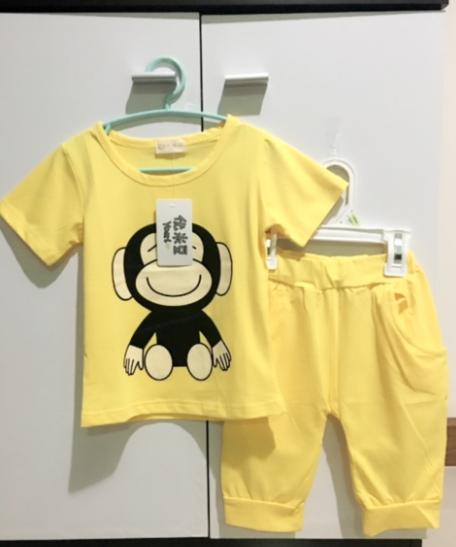 **ชุดเซ็ตลิงน้อย | เหลือง | 100-140 | 5ชุด/แพ๊ค | เฉลี่ย 165/ชุด