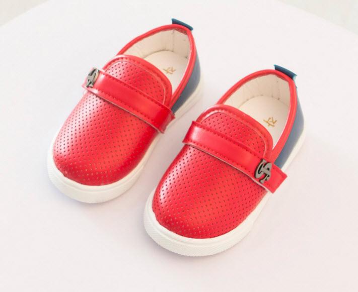 ***รองเท้าหนังเด็กหัดเดิน | แดง | 14-18size 14= 11.5cm | 5คู่/แพ๊ค | เฉลี่ย 120/คู่