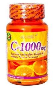 Vitamin C 1000 mg. Plus จาก U.S.A. เพิ่ม Bioflavonoids และ Wild Fose Hip ดูดซึมได้ดี ให้ผิวขาวใส สร้างภูมิคุ้มกันต่อต้านอนุมูลอิสระ 30 เม็ด