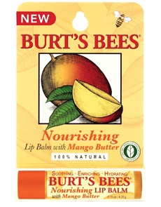BURT'S BEES :: Burt's bee Nourishing Lip Balm with Mango Butter บำรุง ปกป้องคืนความเรียบเนียนให้ริมฝีปากคุณ ด้วย เนยมะม่วง