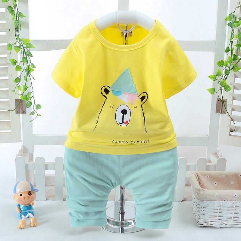 **ชุดเซ็ตเสื้อเหลืองหมีน้อยYummy กางเกงสีเขียวอ่อน size: S-XL (4 pcs/pack)   4ชุด/แพ๊ค   เฉลี่ย 170/ชุด