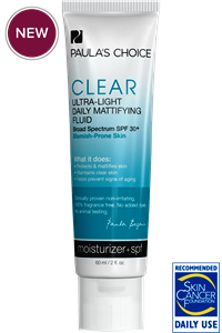 PAULA'S CHOICE CLEAR Ultra-Light Daily Mattifying Fluid SPF 30