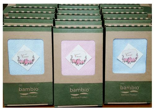 Bambio ผ้าขนหนูใยไผ่รับไหว้ผืนเล็ก(บรรจุกล่อง)
