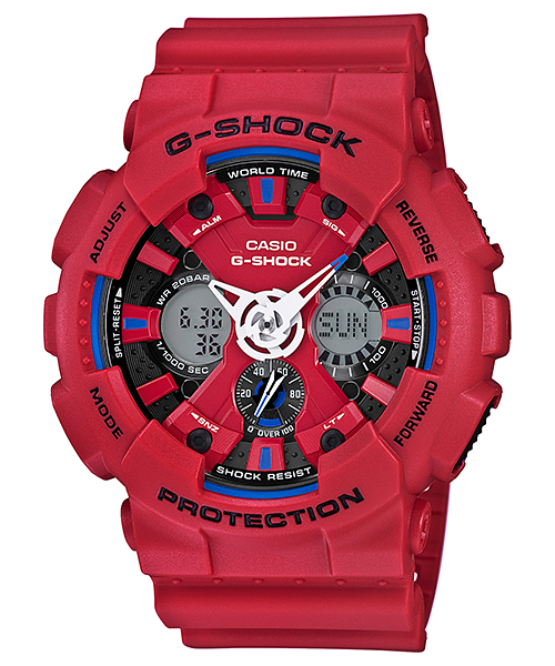 นาฬิกา คาสิโอ Casio G-Shock Limited Models Tricolor Series รุ่น GA-120TR-4A สินค้าใหม่ ของแท้ ราคาถูก พร้อมใบรับประกัน