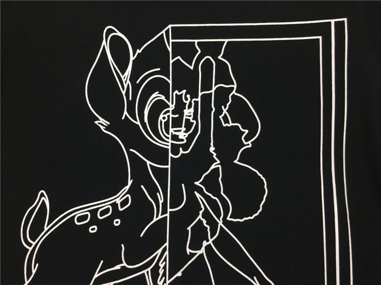เสื้อแขนยาว Givenchy Bambi Stencil Print สีดำ 2