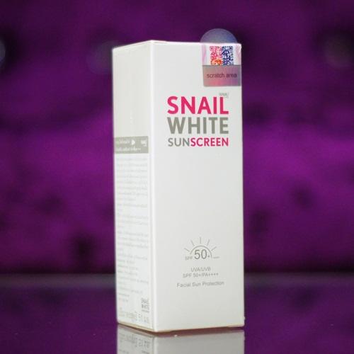 SNAIL WHITE SUNSCREEN SPF50+ PA+++สเนลไวท์ ซันสกรีน เอสพีเอฟ 50+ พีเอ+++ราคาส่งร้านไฮยาดี้ทีเค