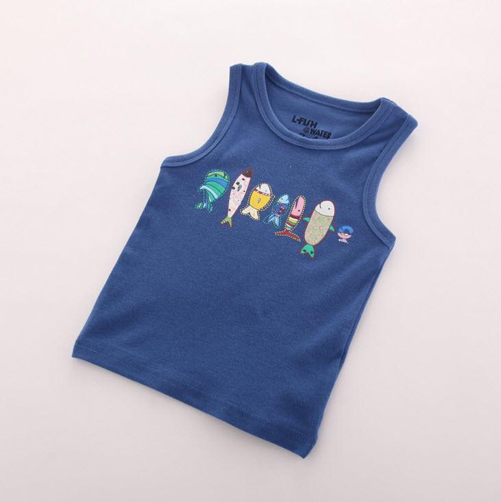 **เสื้อกล้าม | น้ำเงิน | 3-4,4-5,5-6,6-7,7-8Yr | 5ตัว/แพ๊ค | เฉลี่ย 100/ตัว