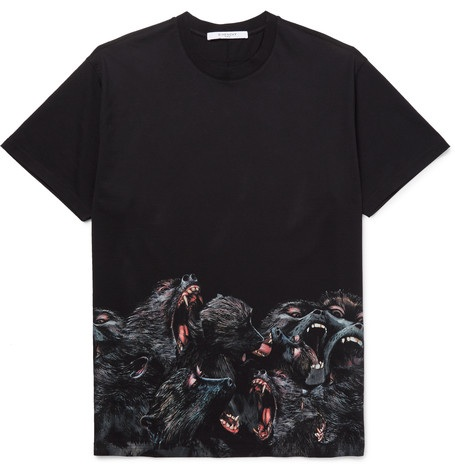 GIVENCHY SCREECHING MONKEY BLACK T-SHIRT
