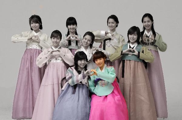 Princess Style Hanbok ฮันบกแบบชาววัง ทังอี รุ่น SNSD