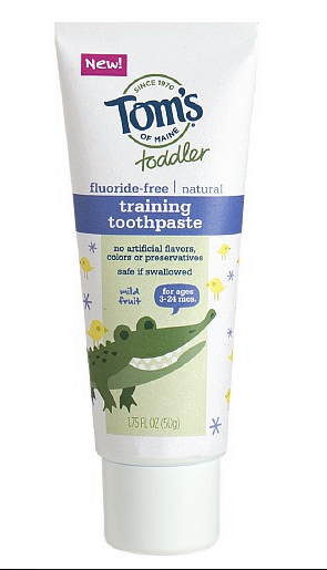 Tom's of Maine Training Toothpaste (fluoride-free)
