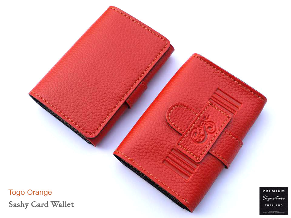 Togo Orange(ส้ม) - Sashy Card Wallet