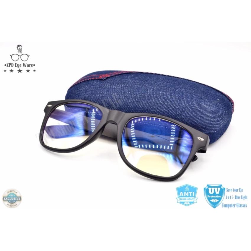 แว่นตากรองแสง ZPDshop รุ่น zp01 (กรองแสงคอม กรองแสงมือถือ ถนอมสายตา) แว่นถนอมสายตา แว่นแฟชั่น แว่นทำงานหน้าคอม (รหัสสินค้า 2zyeotS)