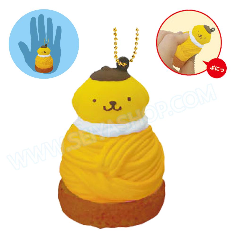CA810 สกุชชี่ Pompompurin Cafe สีเหลือง ขนาด 7cm (Soft) ลิขสิทธิ์แท้