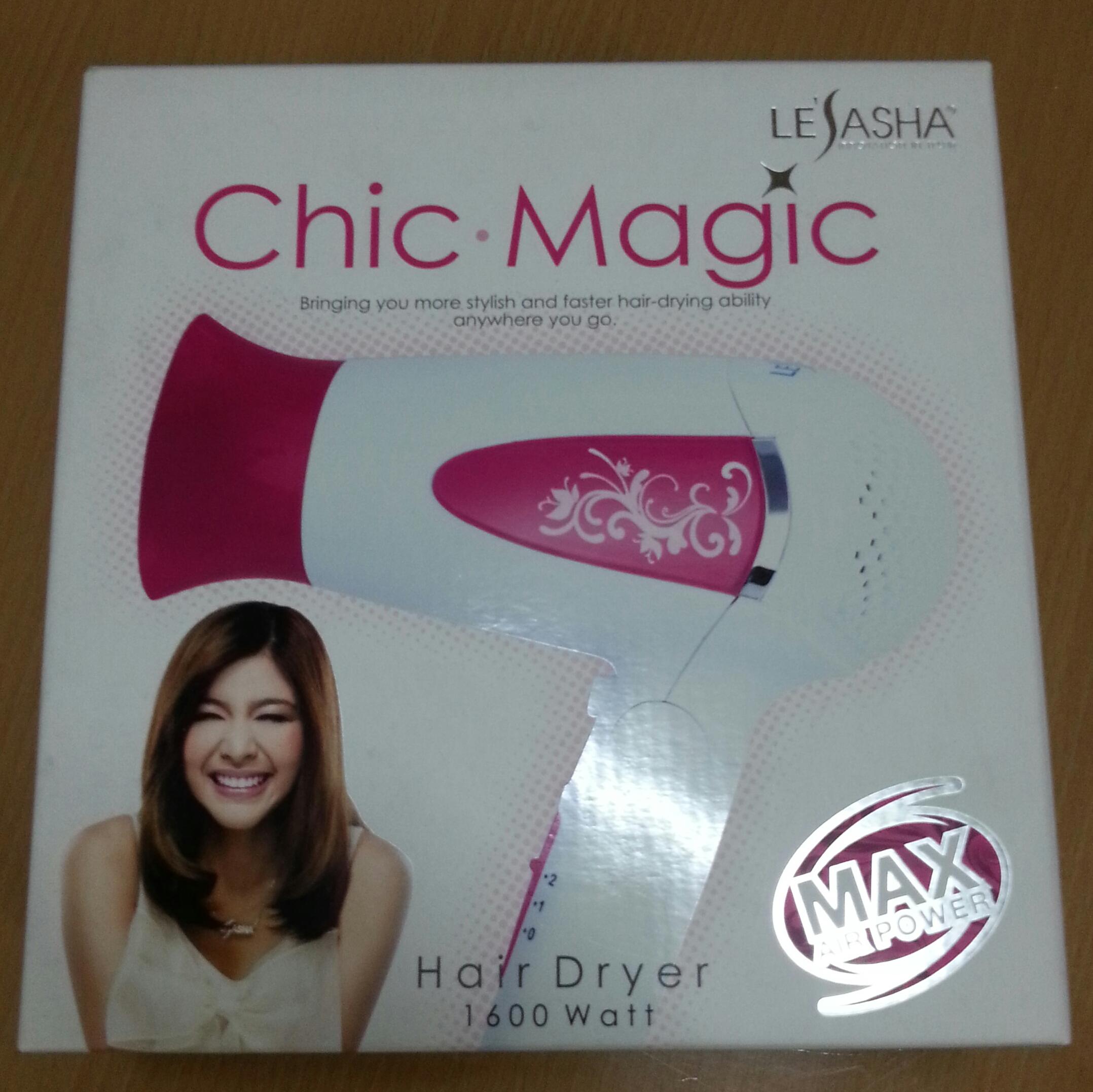 Clearance Sale LeSaSha Chic Magic Hair Dryer ไดร์เป่าผม 1600W