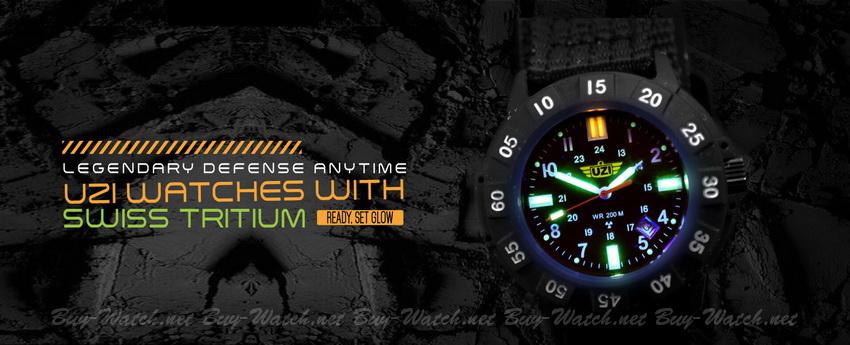 นาฬิกาทหาร UZI Tritium Watch จาก Buy-Watch