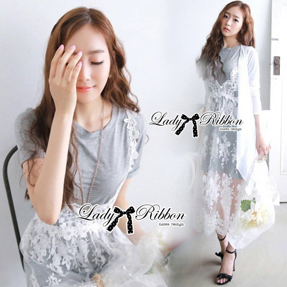 DR-LR-075 Lady Kendal Pretty Sweet Perfect Combination Lace Dress