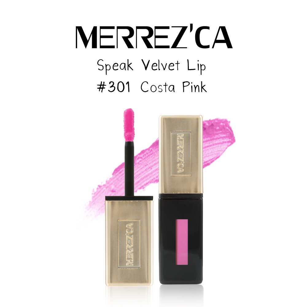 Merrez'Ca Speak Velvet Lip #301 Costa Pink