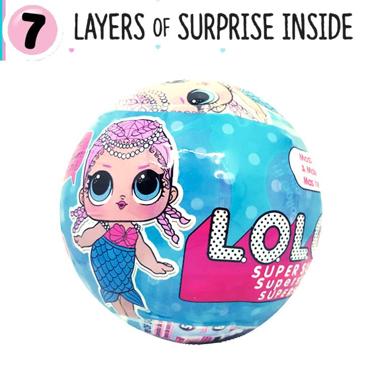 LO046 (งานเทียบ) L.O.L.O.L.O.L Surprise Series 1 ตุ๊กตาเซอร์ไพร์ส 7 ชั้น