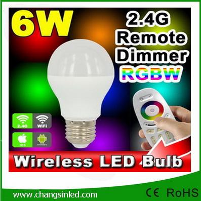 หลอดไฟ LED ไร้สาย Mi Light Wifi Bulb RGB 6W เปลี่ยนสีได้