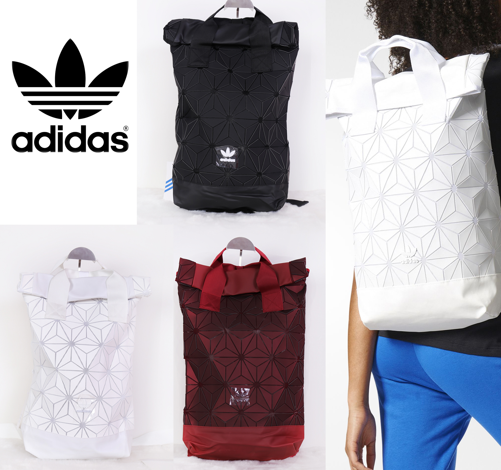 Adidas Originals Adidas BP Top Roll bolsa Top 3D Mesh 2017 negro mochila bolsa hacer ca41427 - allpoints.host