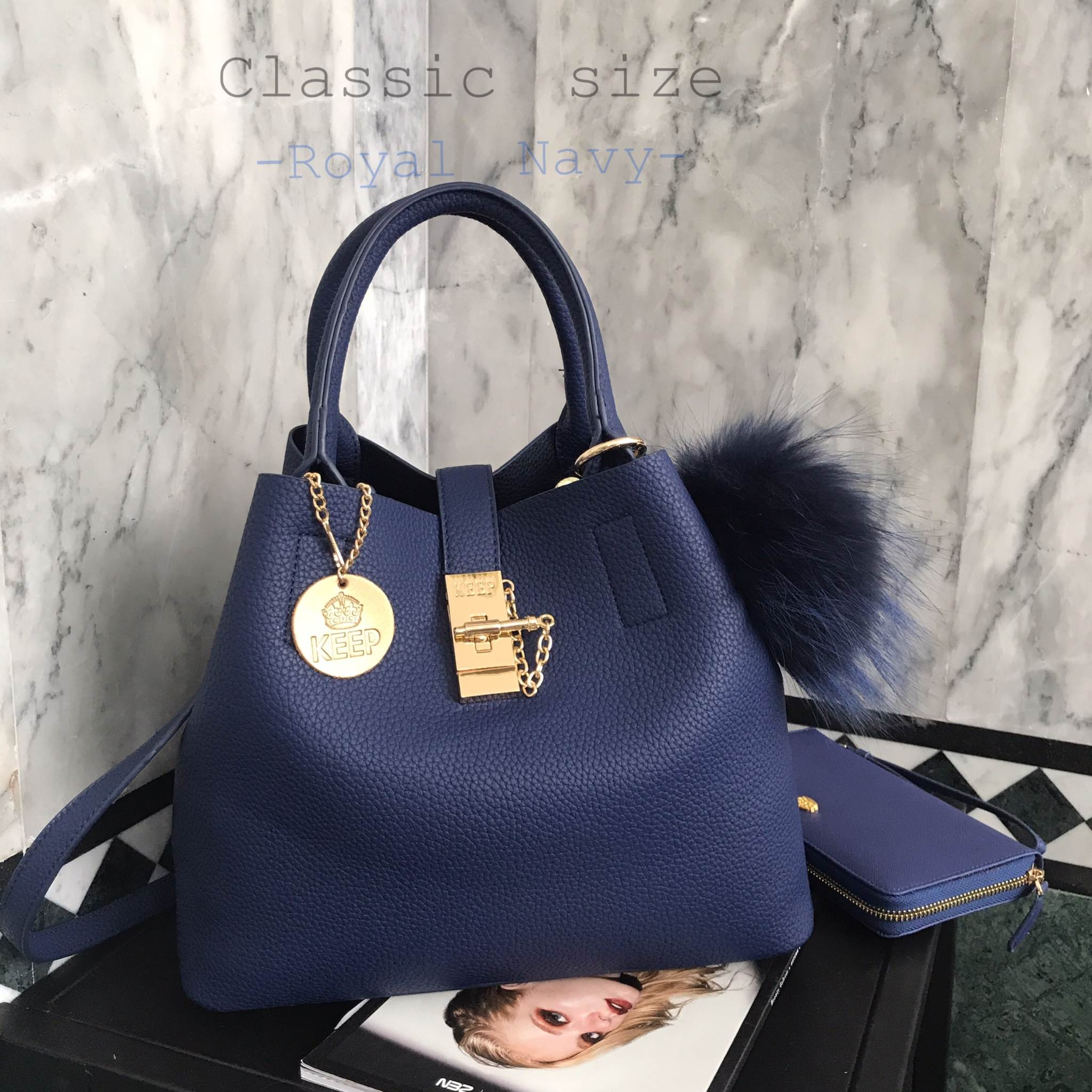 KEEP LALA BAG Classic สีใหม่ Royal Blue