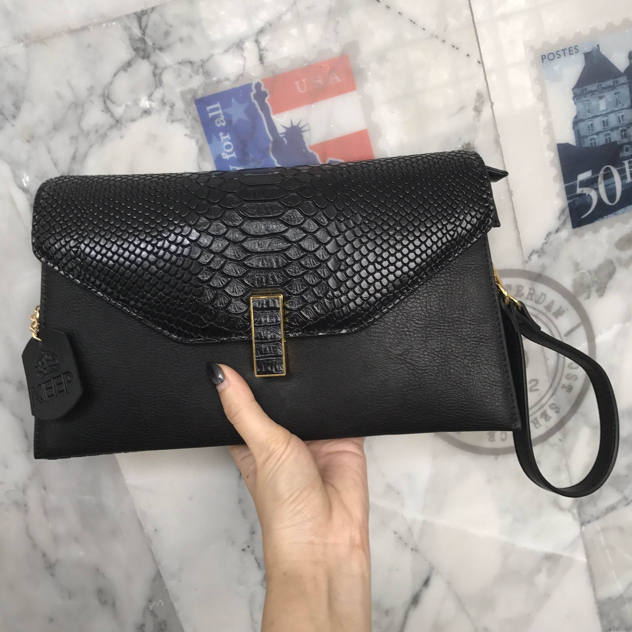 KEEP Clutch bag with strap 2017