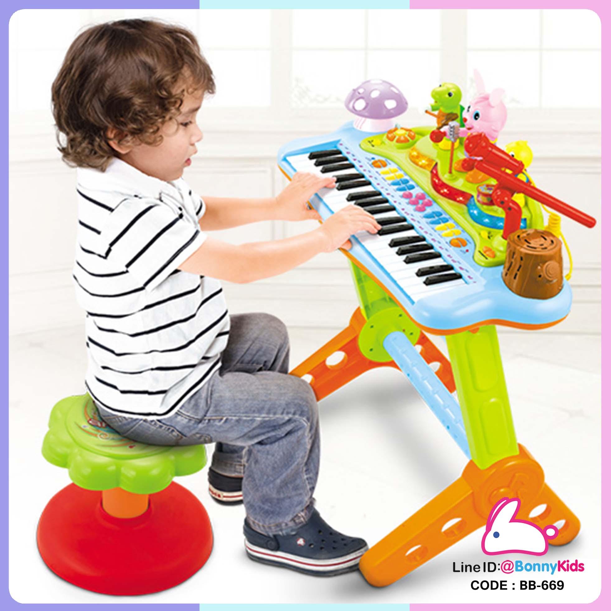 เปียโนของเล่น Huile Toys Multifunctional Electronic