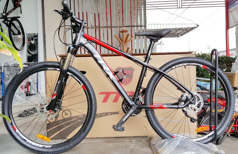จักรยานเสือภูเขา TRX รุ่น Bravo เฟรมอลู โช๊คลม ดิสก์เบรคน้ำมัน Shimano ชุดเกียร์ Shimano Deore 30 Speed