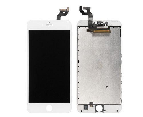 ราคาหน้าจองานแท้+ทัชสกรีน iphone 6s plus สีขาว อะไหล่เปลี่ยนหน้าจอแตก ซ่อมจอเสีย
