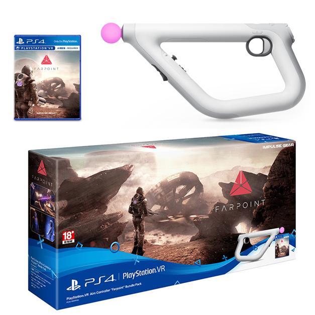 """แผ่นเกม พร้อมชุดจอยปืน Playstation® VR Aim Crontoller """"Farpoint"""" Bundle Pack ราคา 3190.-"""