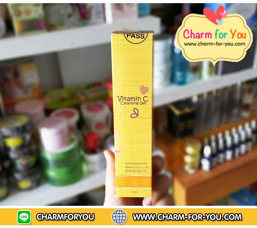 เจลส้ม Brightening Cleansing gel pure vitamin C ขายเครื่องสำอาง อาหารเสริม ครีม ราคาถูก ของแท้100% ปลีก-ส่ง